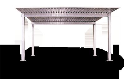 4-Post Steel Canopy Carport