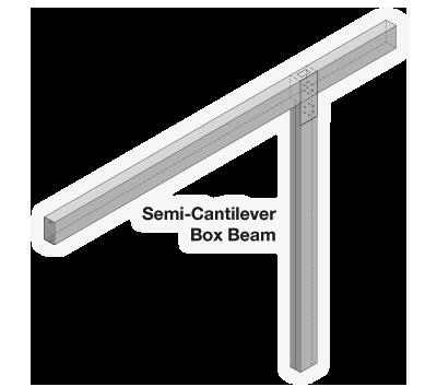 Semi-Cantilever Carport Frame Detail