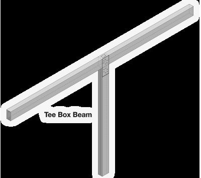 Tee Carport Frame Detail
