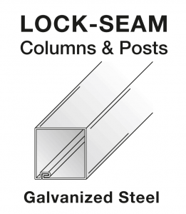 Lock-Seam Steel Post